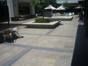 Various Sandstone Pavers with Charcoal Edgings